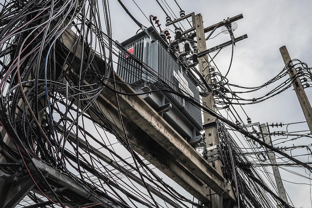Bangkok utility wires Bangkok Thailand