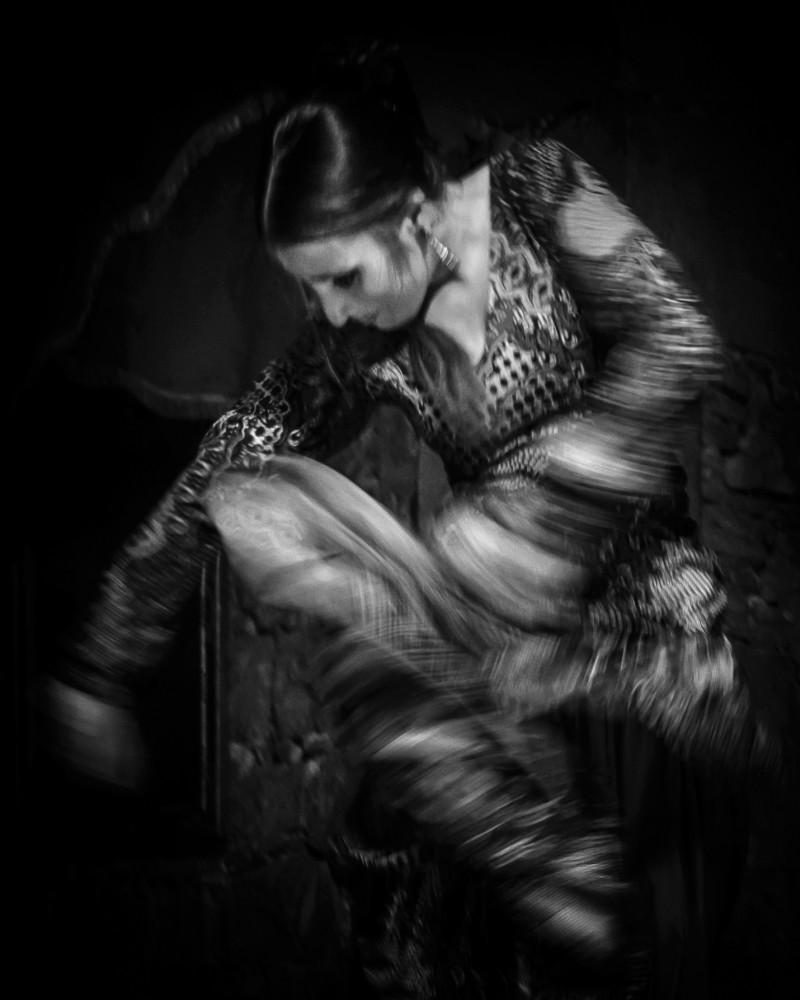 Flamenco female dancer Barcelona Spain
