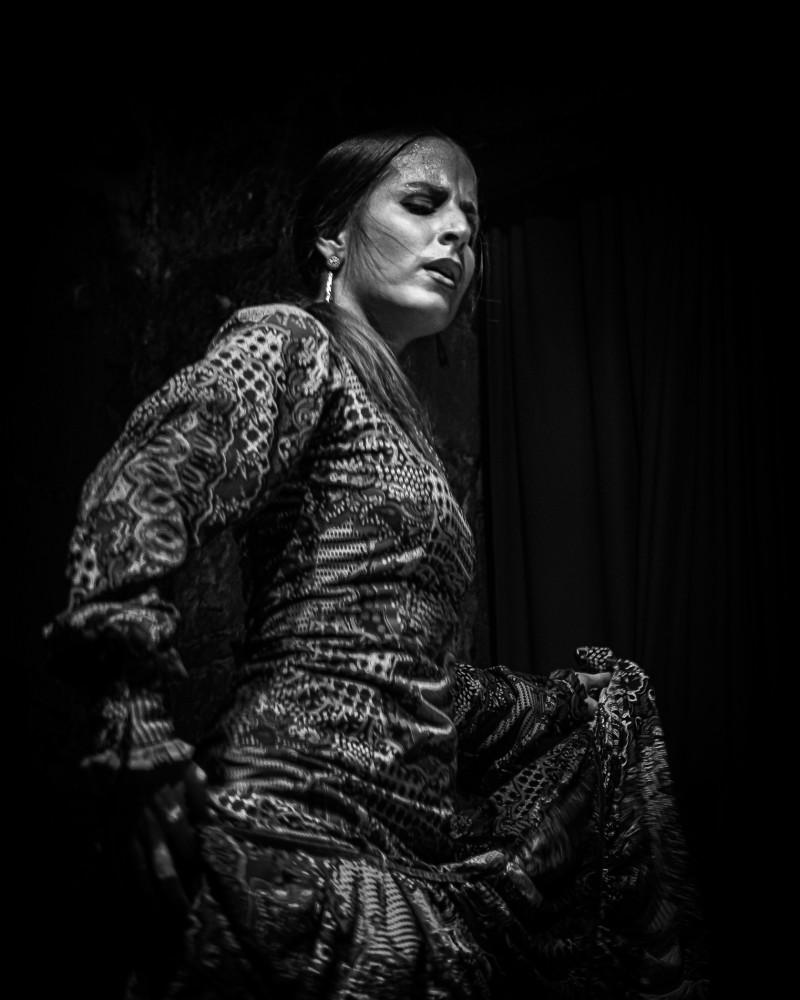 Flamenco female dancer solo Barcelona Spain