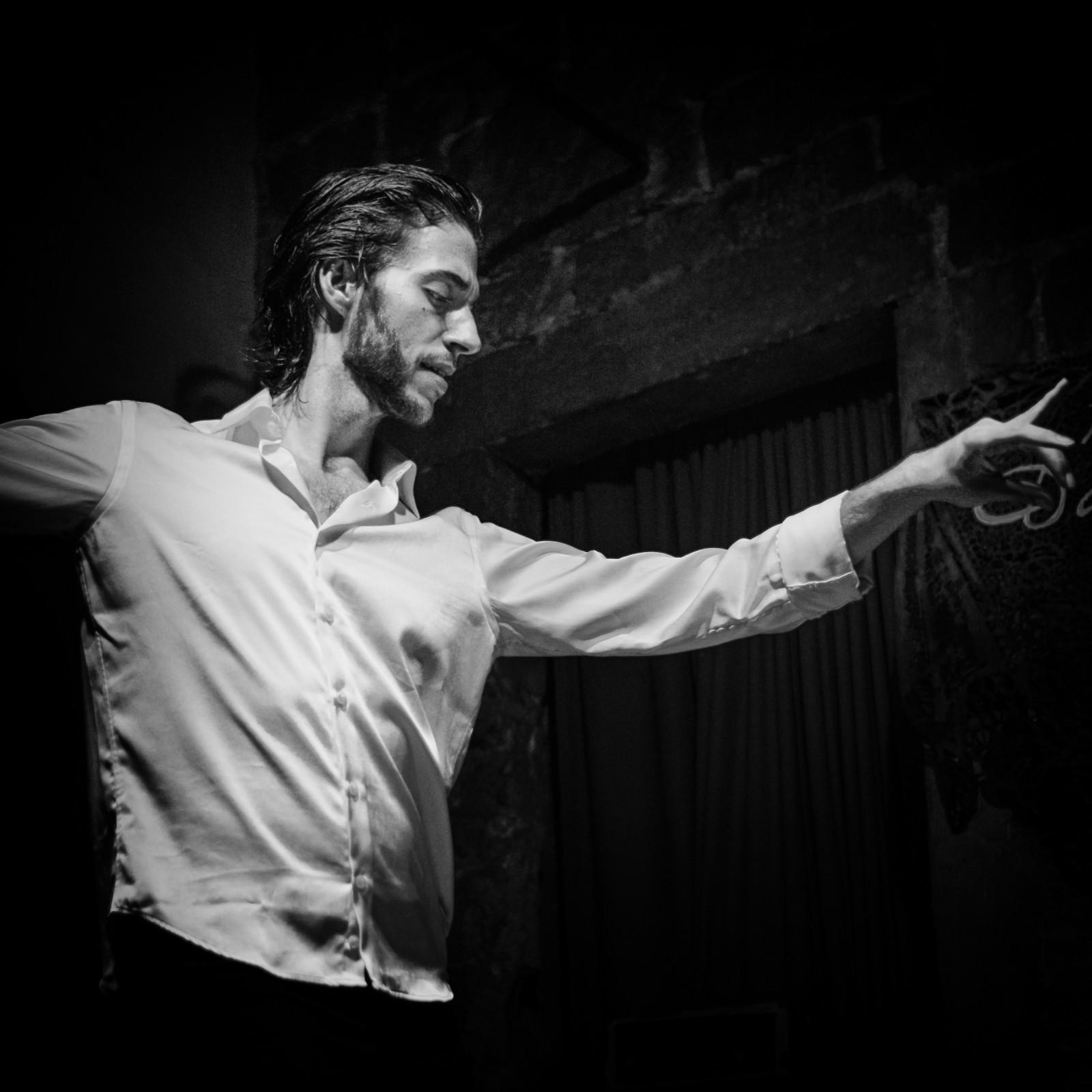 Flamenco male dancer Barcelona Spain