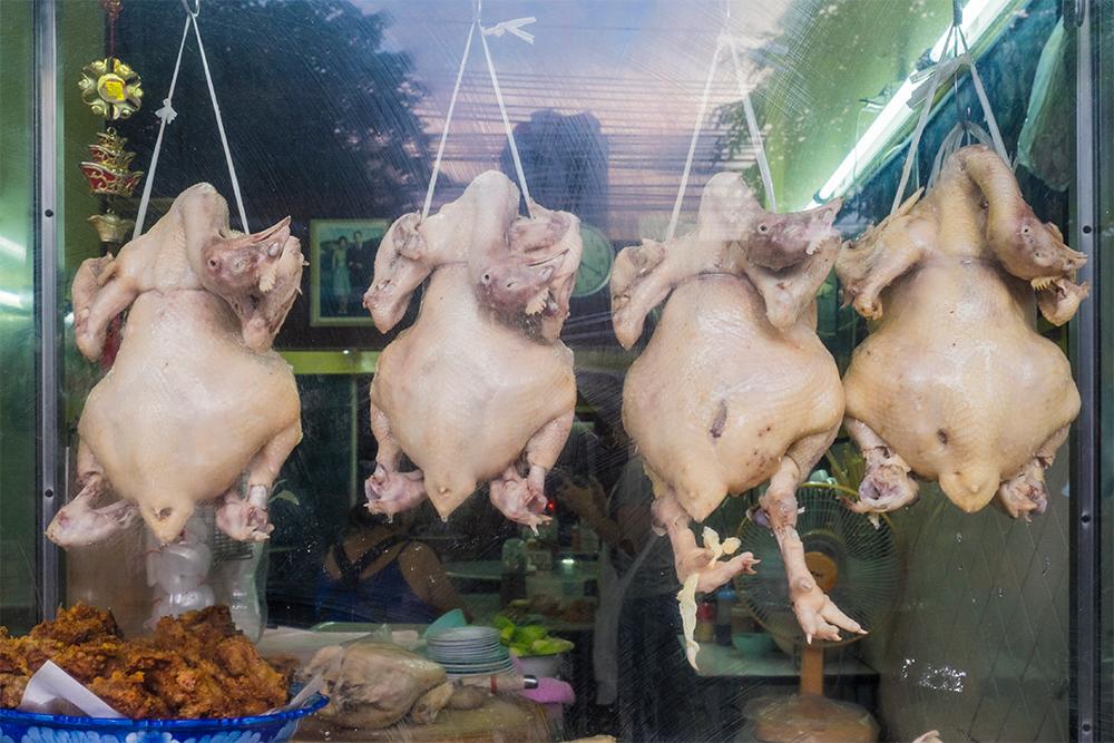 Hanging chickens Bangkok Thailand