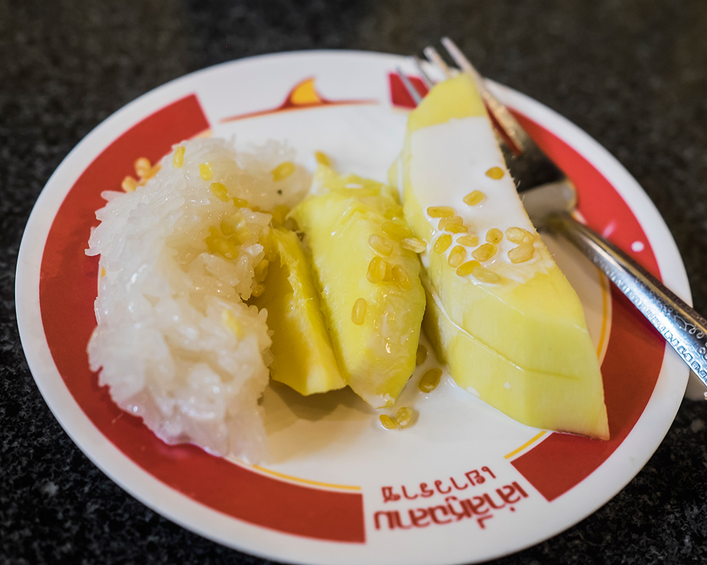 Mango with Sticky Rice and Coconut Milk Bangkok Thailand