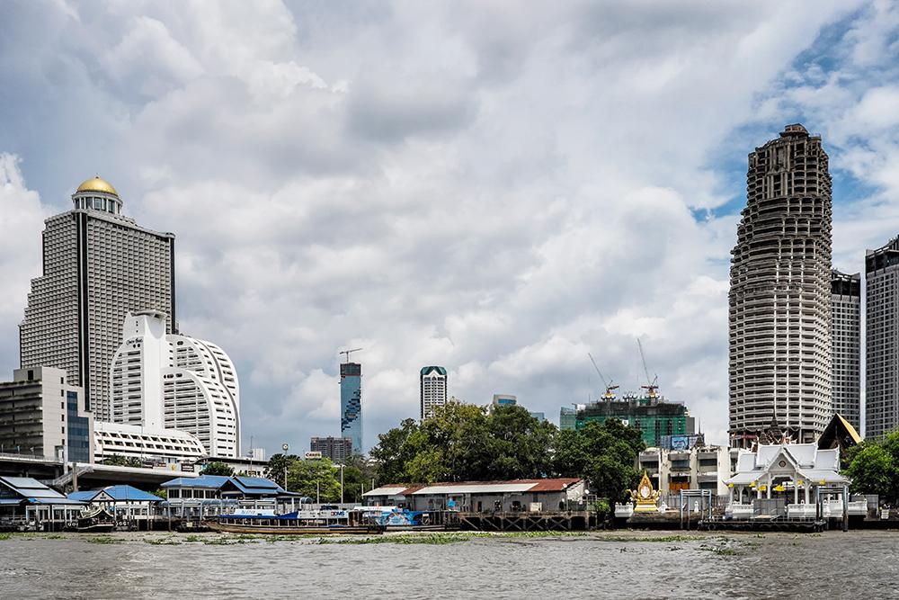 Bangkok Skyline Chao Phraya River Lebua at State Tower Bangkok Thailand
