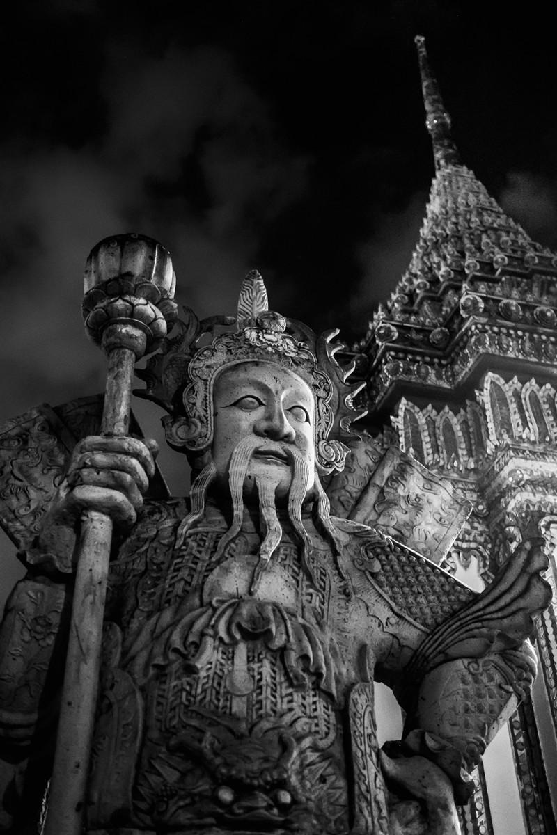 Wat Pho Chinese warrior Bangkok Thailand