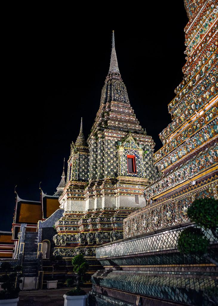Wat Pho pagodas Sala Karn Parien Bangkok Thailand