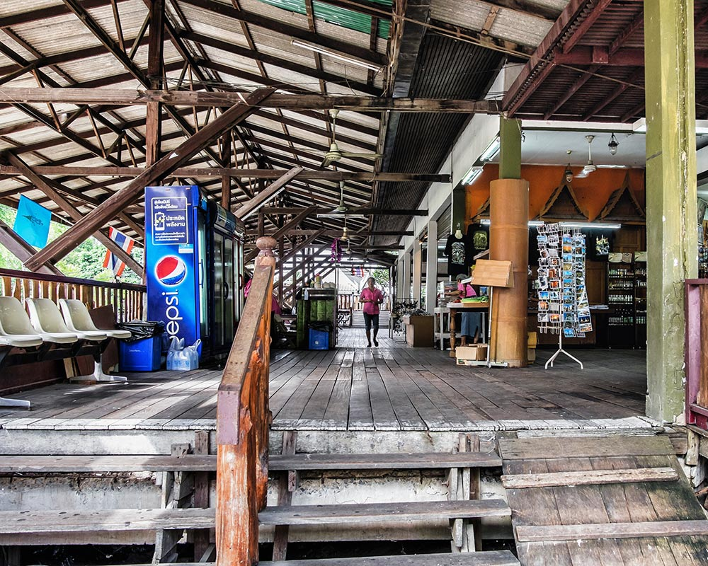Damnoen Saduak floating market goods Bangkok Thailand