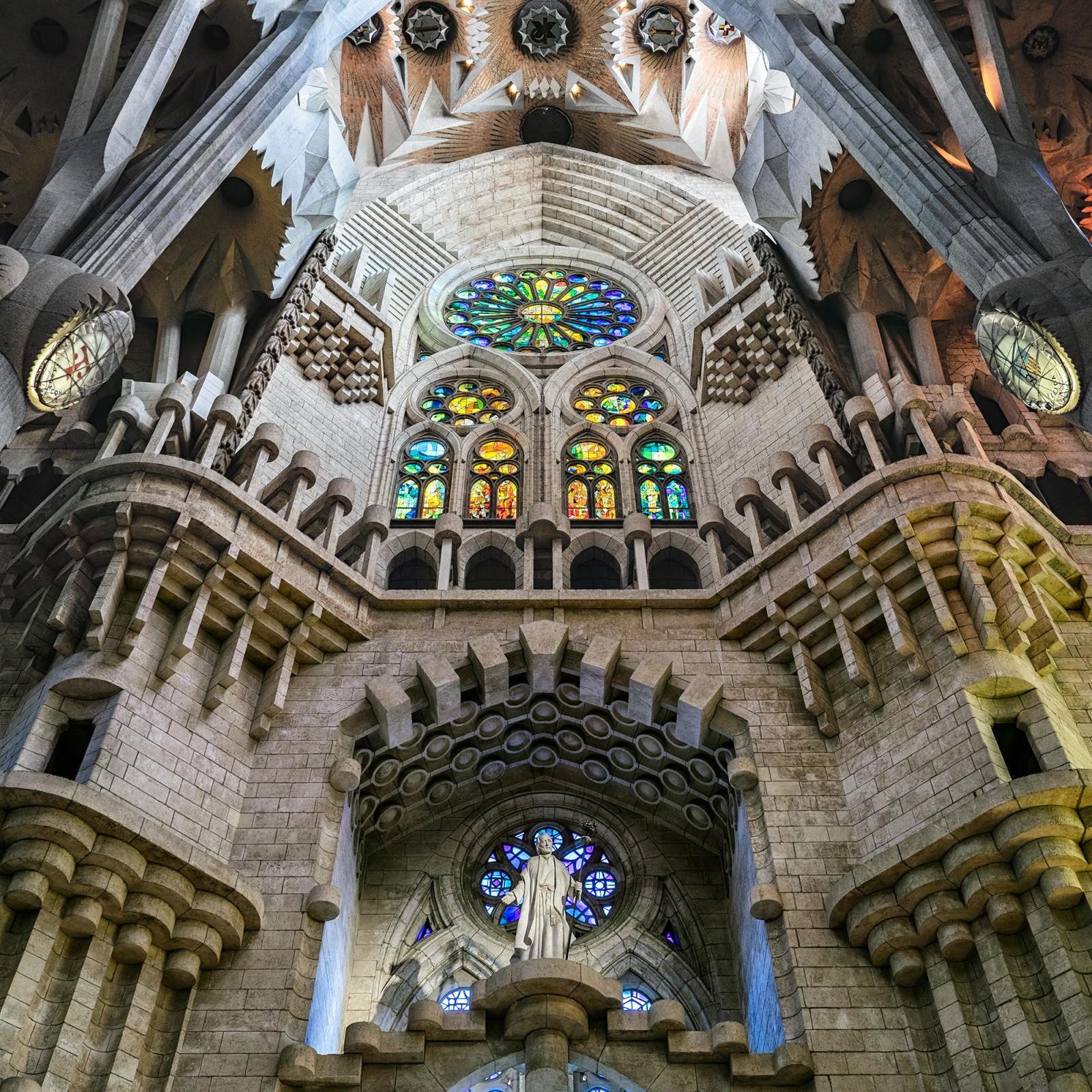 Sagrada Familia wall panorama Barcelona Spain