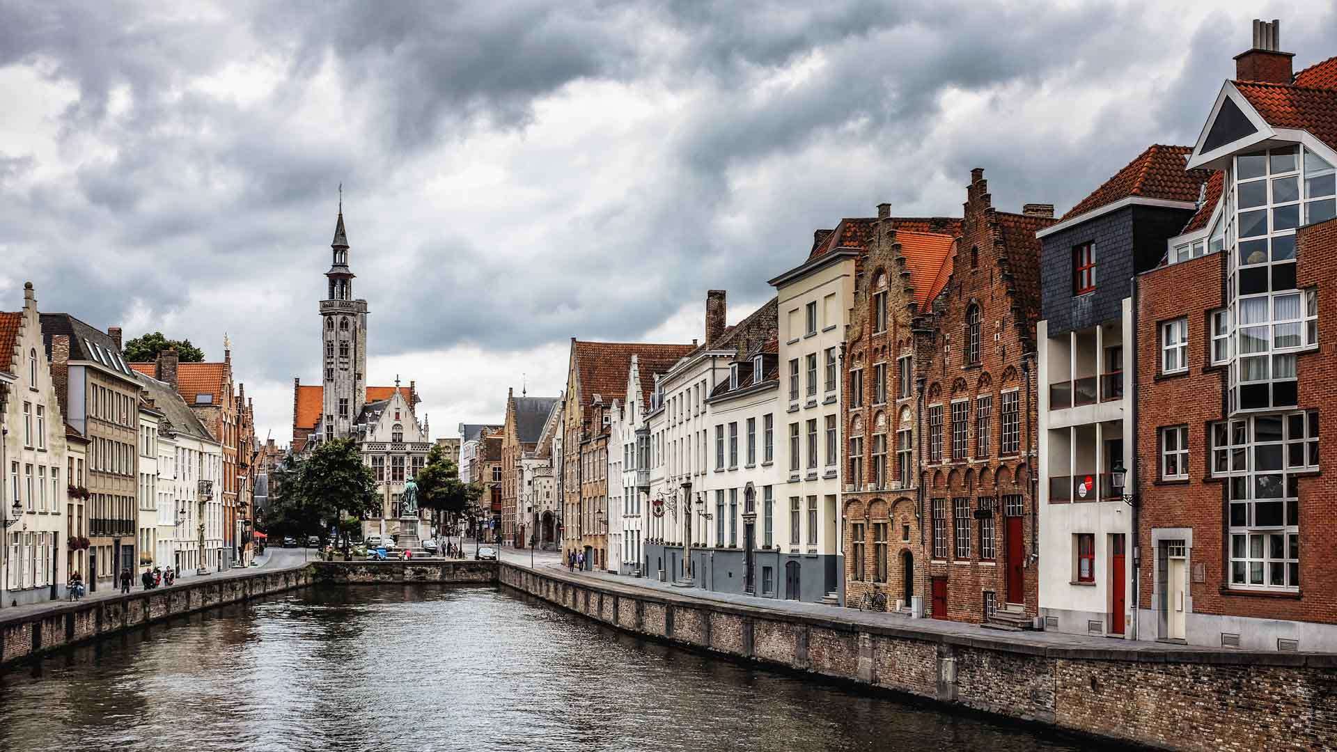 Bruges canal Bruges Belgium